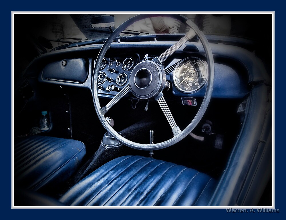 TR3 Interior by Warren. A. Williams