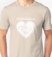 Love in the Time of Chasmosaurs logo: white Unisex T-Shirt