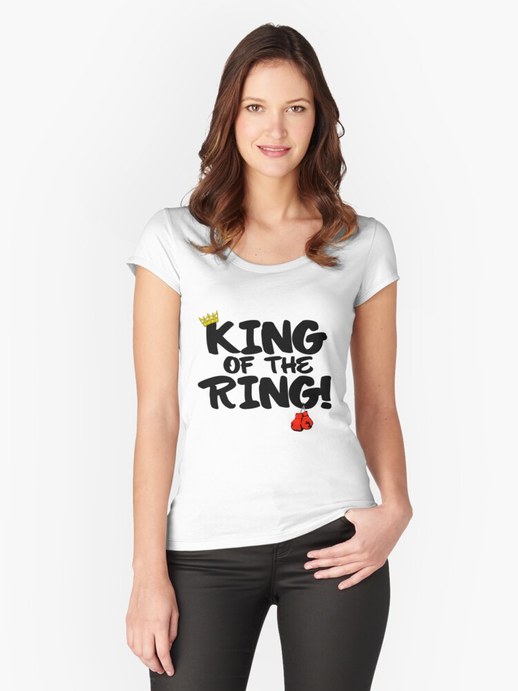 King of the Ring Women's Fitted Scoop T-Shirt Front