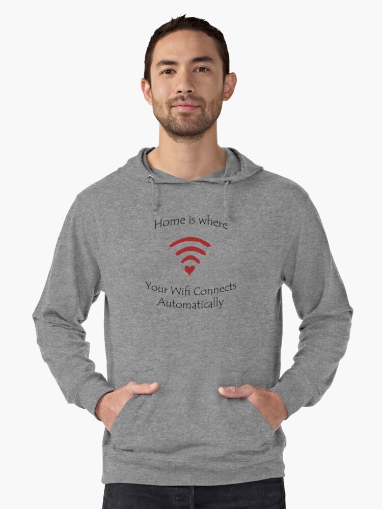 Home is where... Lightweight Hoodie Front