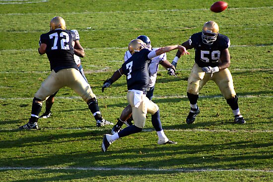 NOTRE DAME VS. CONNECTICUT NOTER DAME STADIUM SOUTH BEND INDIANA NOVEMBER 2009 by photographized