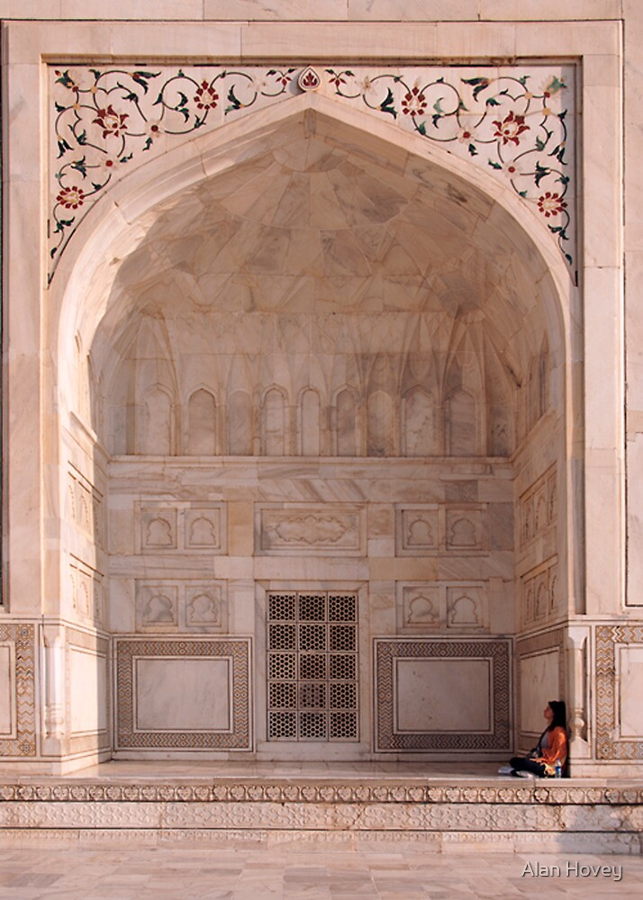 Quiet moment at the Taj Mahal by Alan Hovey
