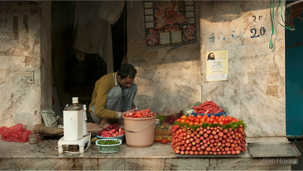 Food Artist in Old Delhi by Alan Hovey