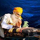 Holy Man in Varanasi by Alan Hovey