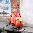 On the Streets of Varanasi by Alan Hovey