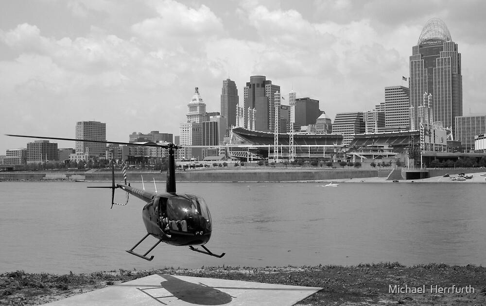 Cincinnati Ohio City Scape by Michael  Herrfurth
