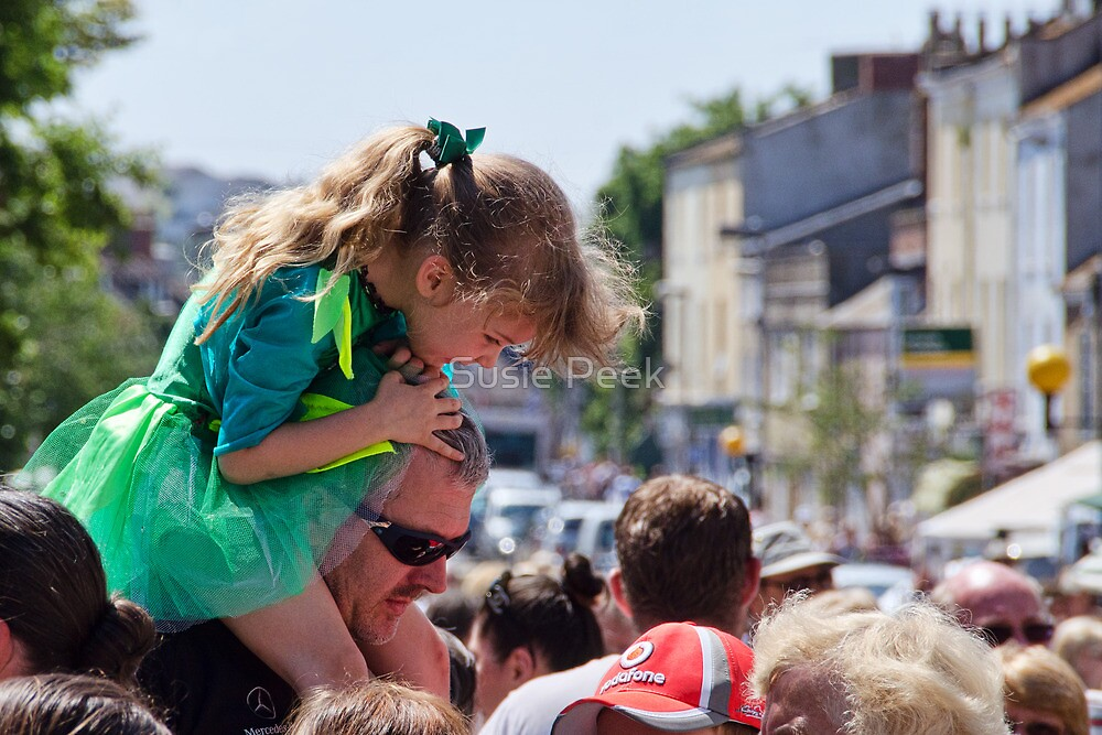 On Daddy's Shoulders by Susie Peek