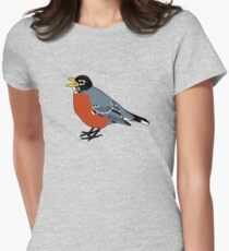 American Robin Bird Women's Fitted T-Shirt