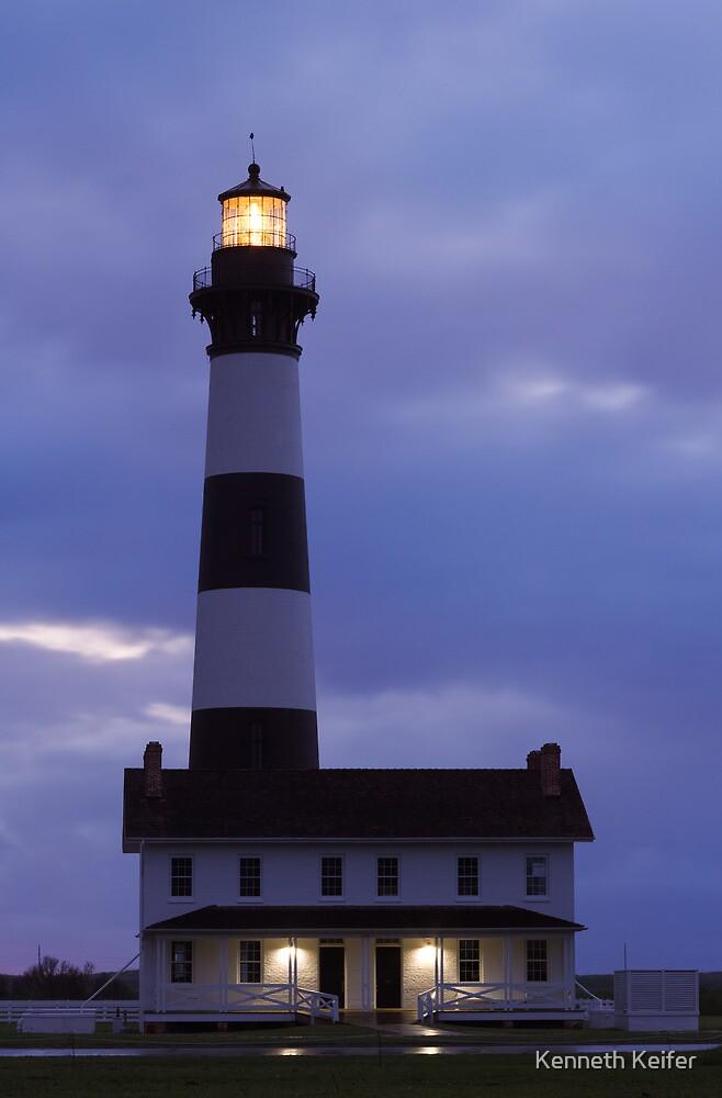 Bodie Island Lighthouse Before Sunrise by Kenneth Keifer