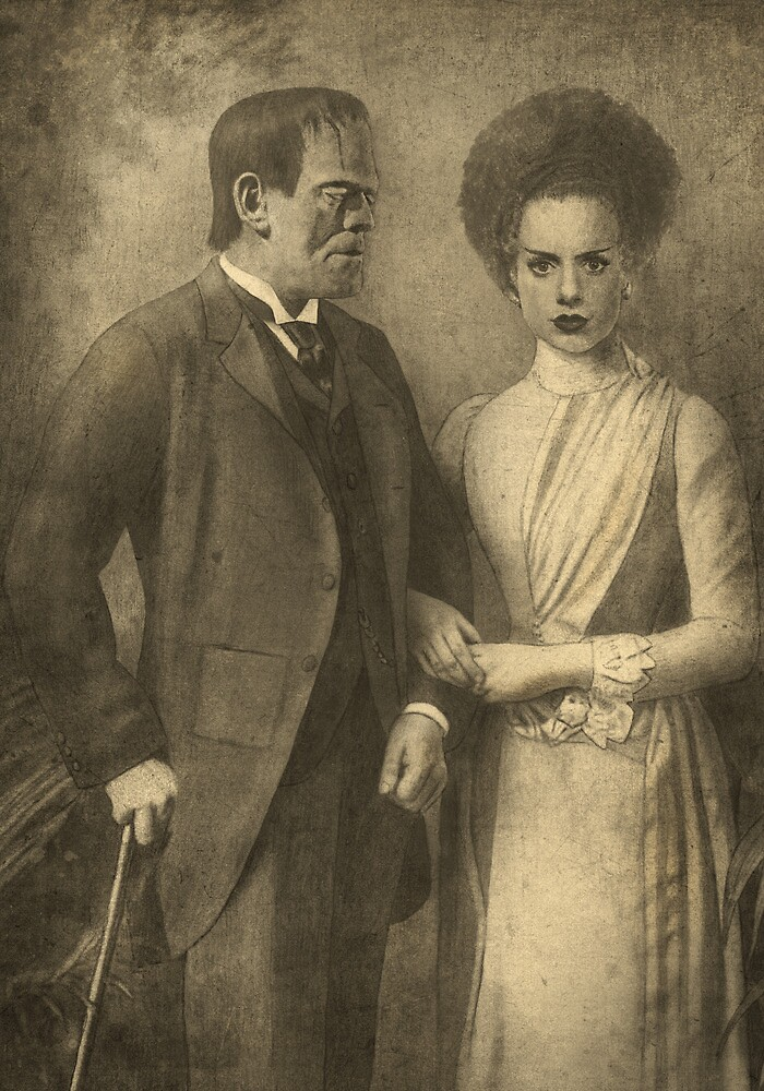 Mr. and Mrs. Frankenstein  by Terry  Fan