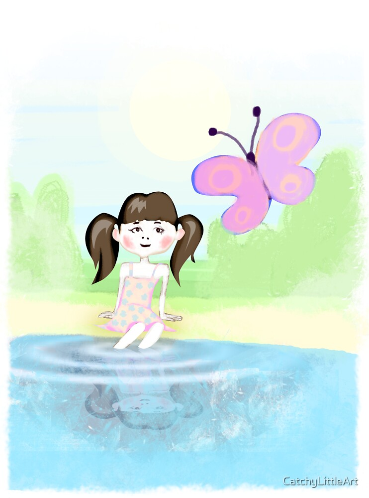 Girl with butterfly by CatchyLittleArt