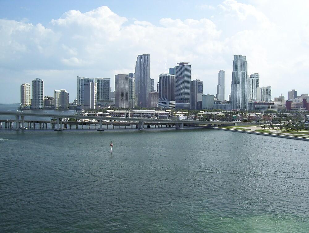 Miami Skyline by K.Audrey Leto