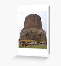Korean Pilgrams at Sarnath India Greeting Card