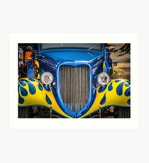 34 Ford in blue Art Print