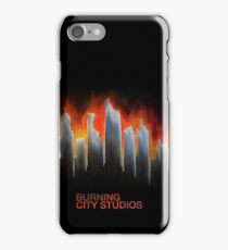 """Burning City"" Painting iPhone Case (Branded, NOT for iPod Touch) iPhone Case/Skin"
