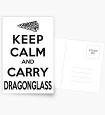 Keep Calm: Dragonglass (Black) Postkarten