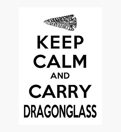 Keep Calm: Dragonglass (Black) Photographic Print