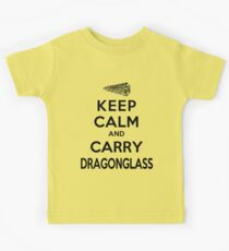 Keep Calm: Dragonglass (Black) Kids Clothes