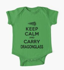 Keep Calm: Dragonglass (Black) One Piece - Short Sleeve