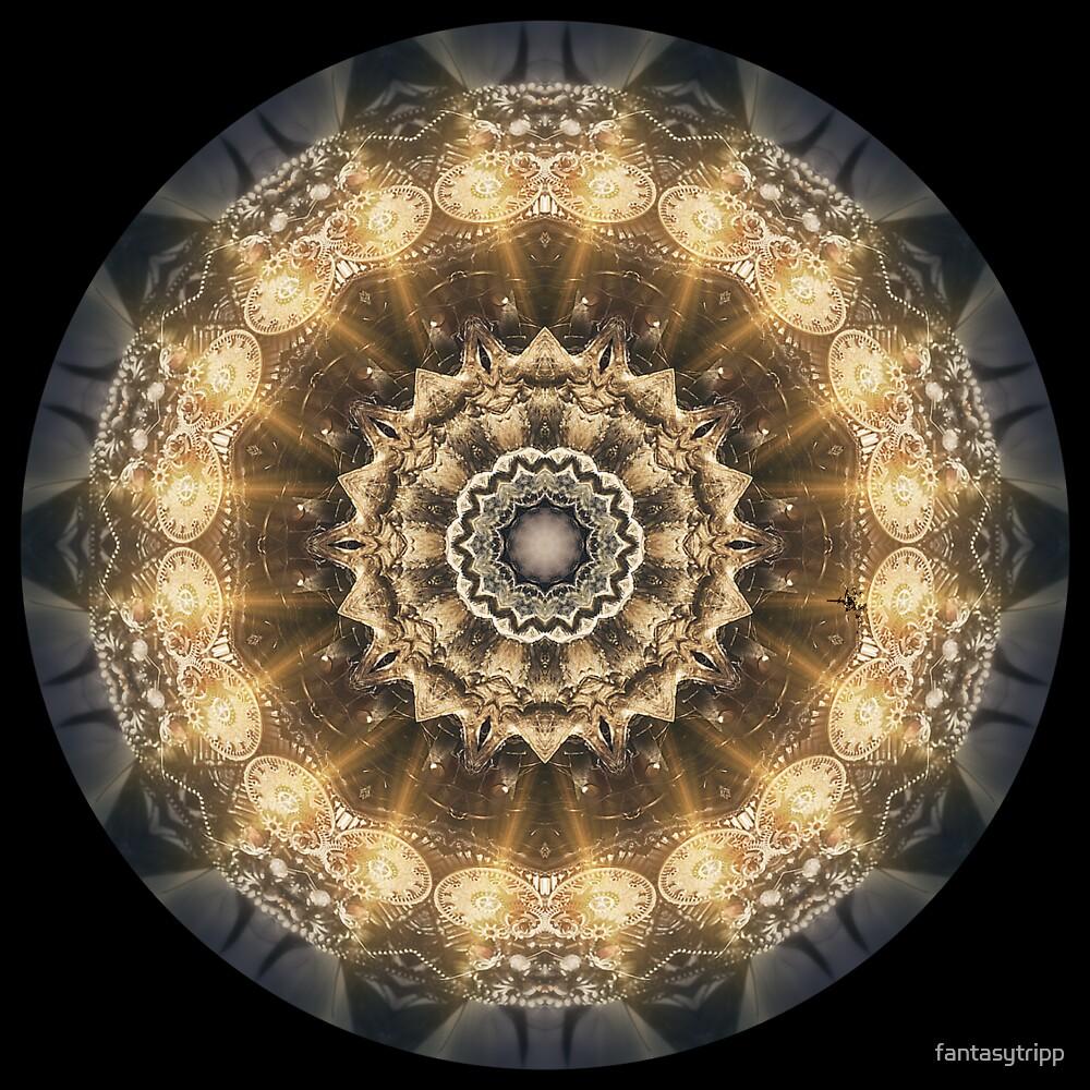 Steampunk Golden Clock Kaleidoscope by fantasytripp
