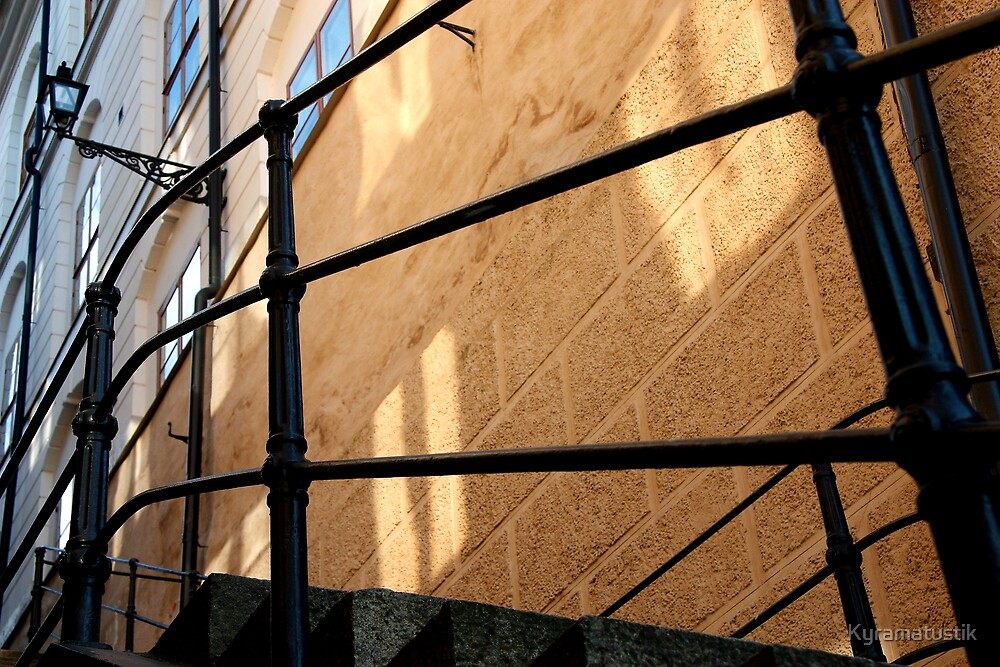 City and sunset reflection by Kyramatustik