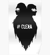 Silhouettes - #Clexa Poster
