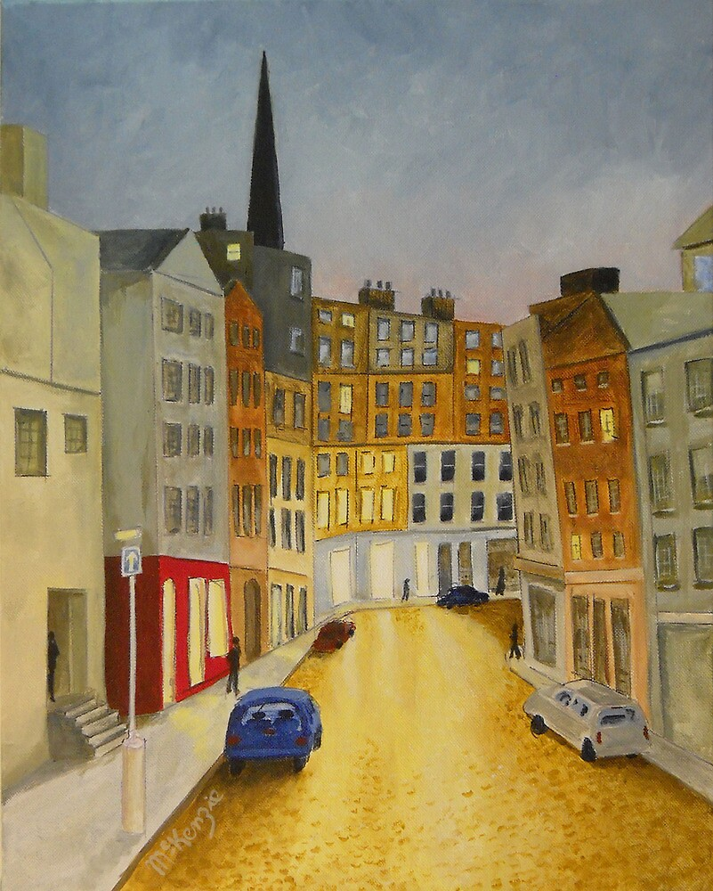 """Edinburgh Street at Night"" by rmckenzie"