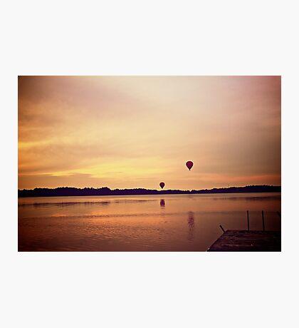 Balloon sunset Photographic Print