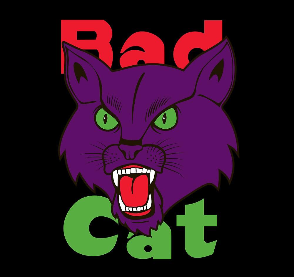 Bad Cat Fireworks by popnerd