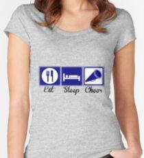 Eat, Sleep, Cheer Women's Fitted Scoop T-Shirt