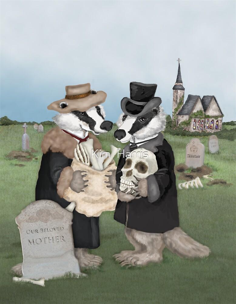 British Badgers Behaving Badly  by Kim  Harris