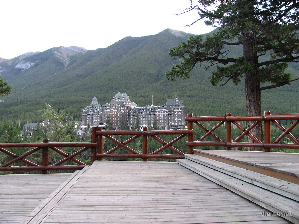 The best view of the Banff Hotel, AB. by thensome1