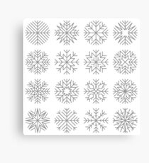 minimalist snow flakes Canvas Print
