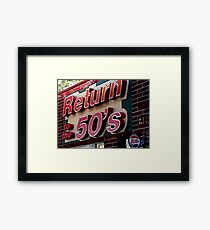 Back to the 50s Framed Print