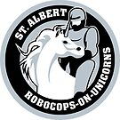 Robocop on a unicorn by CptnLaserBeam