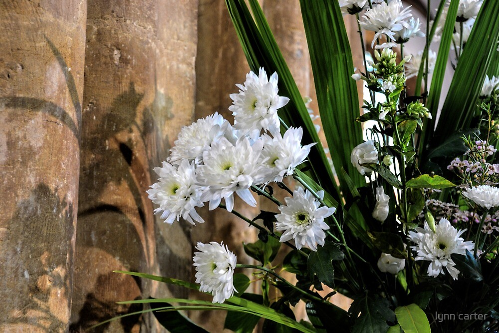 Flowers At St Mary,s Church Bridport, Dorset UK  by lynn carter