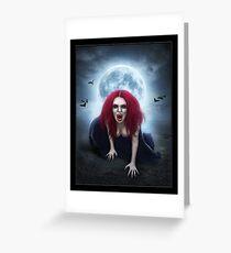 Blood Lust Vampire Lady Greeting Card
