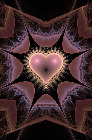 Pink Heart  by Annmarie *