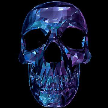 Polygon Skull - Blue / Purple by matu