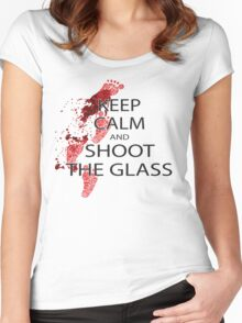 keep calm and shoot the class Women's Fitted Scoop T-Shirt