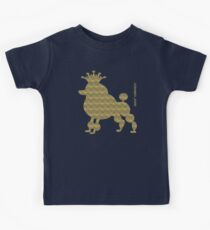 King poodle - Königspudel - dog, crown, cute, funny Kids Clothes