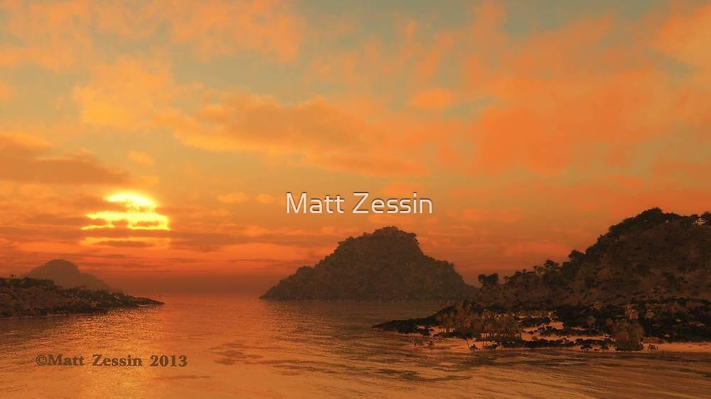 Islands By Dusk by Matt Zessin