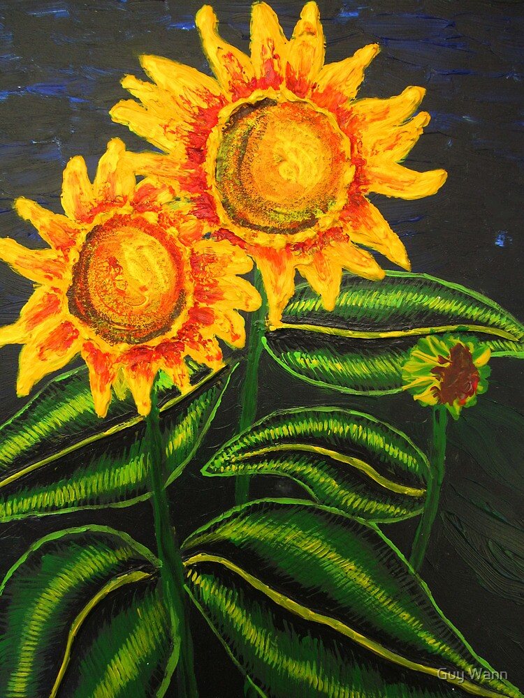 Some Sunflowers by Guy Wann