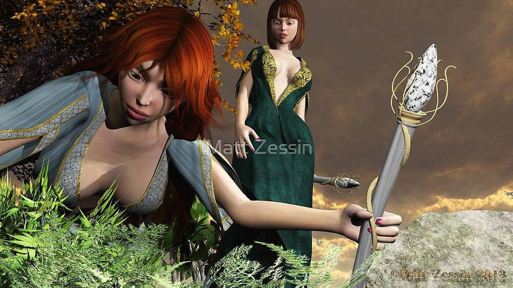 Inquisitive Elven Girls by Matt Zessin
