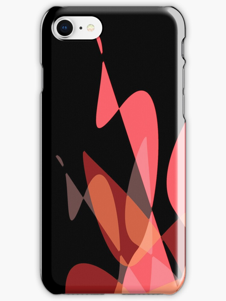 Red & Black Graphic iPhone/iPod & iPad by GJPart