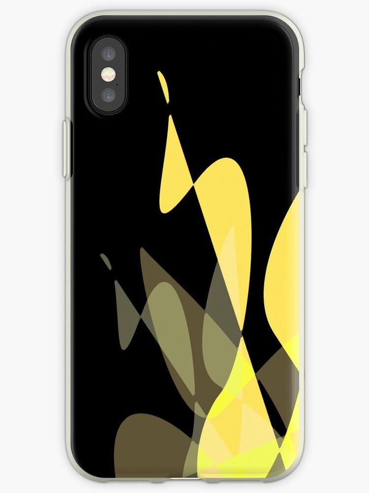 Yellow & Black Graphic iPhone/iPod & iPad by GJPart