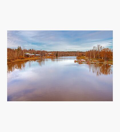 River at Porvoo, Finland Photographic Print