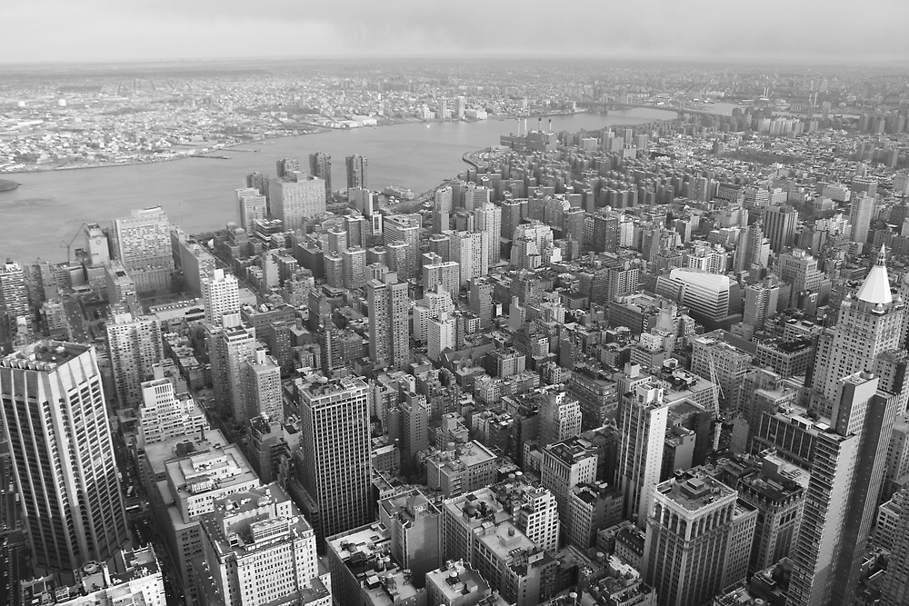 To the east, Empire State Building, NYC by Rachael Mullins