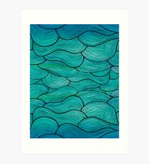 Sea Waves Pattern Art Print