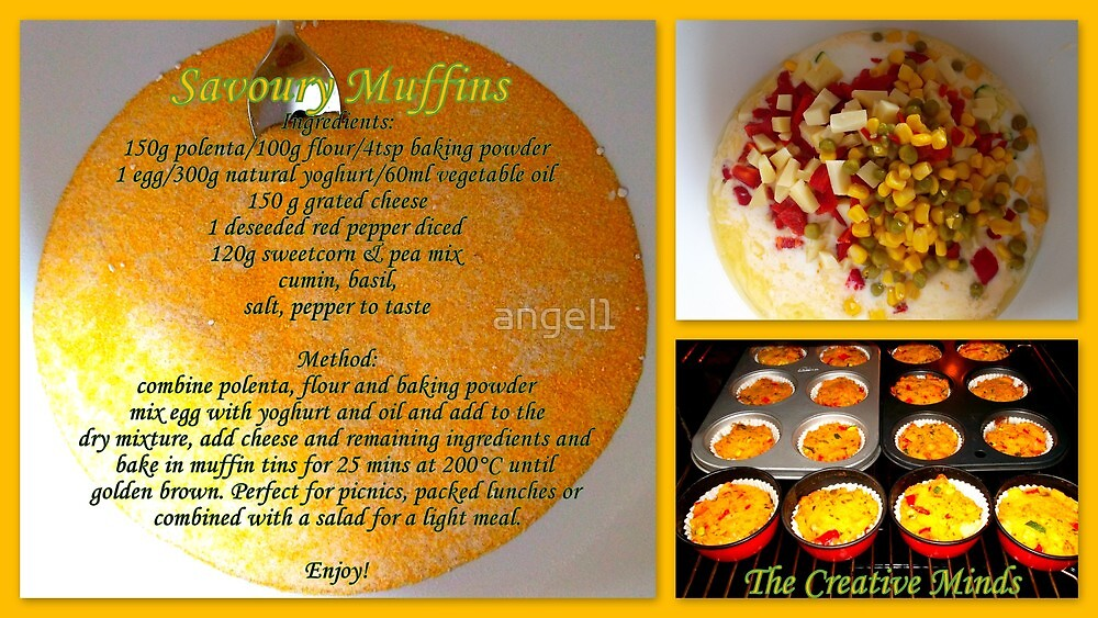 Savoury Muffins with recipe by ©The Creative  Minds